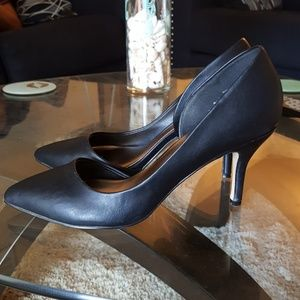 Black pointed toe madden girl d'orsay pumps